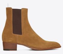 klassischer wyatt 40 chelsea stiefel aus gegerbten wildleder
