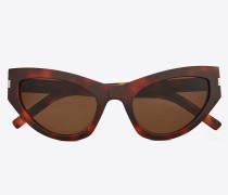 Sonnenbrille NEW WAVE 215 GRACE aus havannabraunem Acetat mit tabakbraunen Gläsern