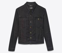 Jacket In Lightly  Stretch Denim Schwarz