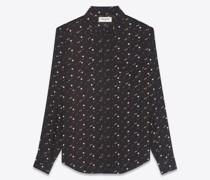 Classic Western Shirt In Stars-Print Twill Blau