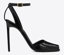 schwarze edie 110 peep-toe-sandale