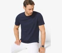 MK T-Shirt Aus Baumwolle Mit Rundhalsausschnitt - Midnight(Blau) - Michael Kors