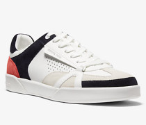 Sneaker Adrian aus Leder In Blockfarben