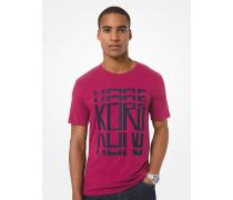 MK T-Shirt Aus Baumwoll-Jersey Mit Kors-Schriftzug - Cassis(Lila) - Michael Kors