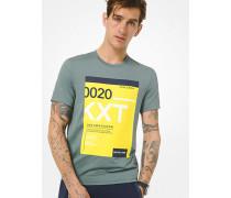 MK T-Shirt Kors X Tech Aus Jersey Mit Grafik - Wald(Grün) - Michael Kors