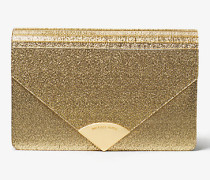 Clutch Barbara in Briefumschlag-Form mit Metallic-Effekt
