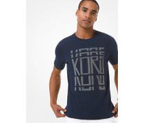 MK T-Shirt Aus Baumwoll-Jersey Mit Kors-Schriftzug - Midnight(Blau) - Michael Kors