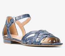 Sandale Annaliese Aus Geprägtem Leder