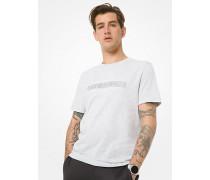 MK T-Shirt Aus Baumwoll-Jersey Mit Logo - Meliertes Grau(Grau) - Michael Kors