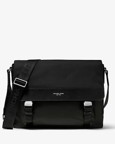 MK Messenger-Tasche Brooklyn Aus Nylon-Gabardine - Schwarz(Schwarz) - Michael Kors