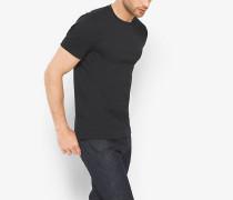 MK T-Shirt Aus Baumwolle Mit Rundhalsausschnitt - Schwarz(Schwarz) - Michael Kors