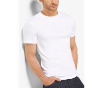 MK T-Shirt Aus Baumwolle Mit Rundhalsausschnitt - Weiss(Weiss) - Michael Kors