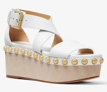 Flatform-Sandale Garner aus Leder  mit Nieten