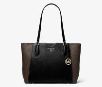 Shopper Mae Medium aus Gekrispeltem Leder und Logostoff