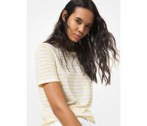 MK Gestreiftes T-Shirt Aus Leinen Und Jersey - Sunbeam - Michael Kors