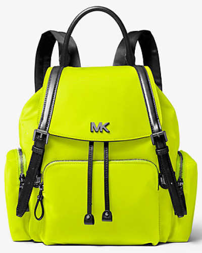 Rucksack Beacon Medium aus Neonfarbenem Satin