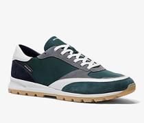 Sneaker Liam aus Nylon-Gabardine und Wildleder