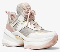 Sneaker Olympia aus Glitzerndem Mesh Im Kettendesign und Leder