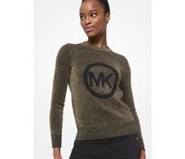 Sweater In Metallic-Optik