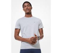 MK T-Shirt Aus Baumwolle - Meliertes Grau(Grau) - Michael Kors