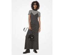 Gepunktetes Slip-Kleid aus Dichtem Stretch-Jersey  mit Mustermix