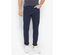 Slim-Fit-Hose aus Baumwoll-Twill Im Five-Pocket-Stil
