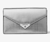 Clutch Grace Medium aus Leder In Metallic-Optik mit Umschlag