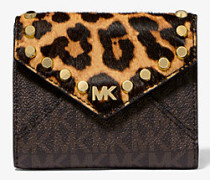 Medium Logo And Leopard Envelope Wallet