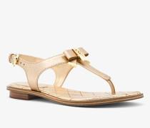 Sandale Alice aus Leder In Metallic-Optik