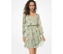 Kleid mit Rüschen und Paisleymuster