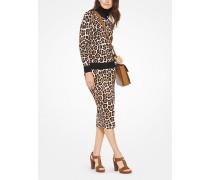 Rollkragenpullover Mit Leopardenmuster