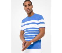 MK T-Shirt Aus Baumwoll-Jersey Mit Streifen - Pop Blue - Michael Kors