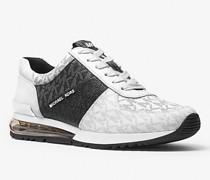 Sneaker Allie Extreme aus Logostoff und Leder In Blockfarben