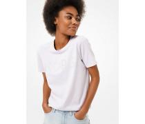 MK T-Shirt Aus Baumwoll-Jersey Mit Logo Aus Nieten - Lavender Mist - Michael Kors