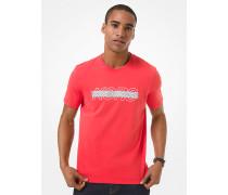 MK T-Shirt Aus Baumwoll-Jersey Mit Logo - Drk Persimon - Michael Kors