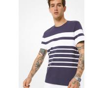 MK T-Shirt Aus Baumwoll-Jersey Mit Streifen - Midnight(Blau) - Michael Kors