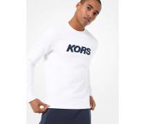 MK Sweatshirt Aus Baumwollmischgewebe Mit Logostickerei - Weiss(Weiss) - Michael Kors