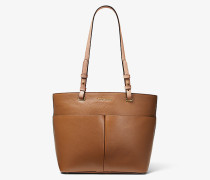 Shopper Bedford aus Gekrispeltem Leder mit Aufgesetzter Tasche