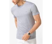 MK T-Shirt Aus Baumwolle Mit Rundhalsausschnitt - Meliertes Grau(Grau) - Michael Kors