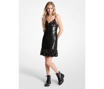 Slip-Kleid aus Georgette mit Pailletten
