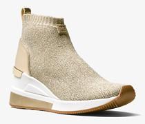 Sneaker Skyler aus Stretchgewebe mit Metallic-Effekt In Sockenoptik