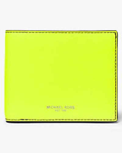 Brieftasche Henry aus Neonfarbenem Leder