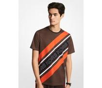 T-Shirt aus Baumwoll-Jersey mit Logostreifen