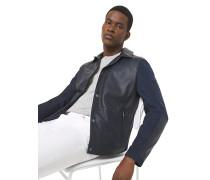 Jacke aus Perforiertem Leder