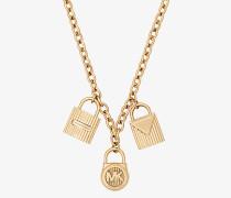 Halskette Im Goldton Mit Schloss-Anhänger