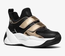 Sneaker Keeley Aus Neopren Und Leder In Metallic-Optik
