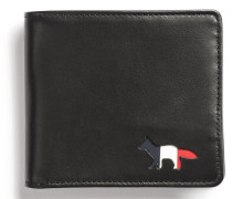Tricolor Men Wallet Leather Black