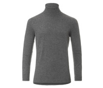 Knitted Pullover Turtleneck Grey/Blue