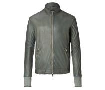 Leather Jacket Kaki