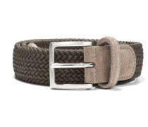 Elastic Braided Belt Olive